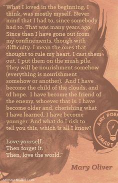 Mary Oliver PRINT 11 x 17 Poem by SmartGirlsattheParty on Etsy, $20.00