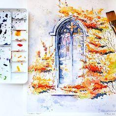 Watercolorist: @a_strand  #waterblog #акварель #aquarelle #painting #drawing #art #artist #artwork #painting #illustration #watercolor #aquarela