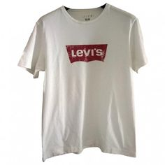T SHIRT VINTAGE LEVI'S (35 CAD) ❤ liked on Polyvore featuring tops, t-shirts, shirts, tees, white cotton t shirts, white top, cotton t shirts, vintage tee-shirt and levi's shirt