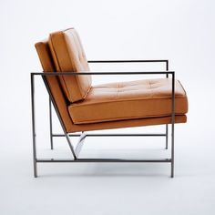 I Like The Idea Of This West Elm Metal Frame Leather Chair. Feels Masculine  To Balance Out The Feminine As Well As Mid Century Modern.