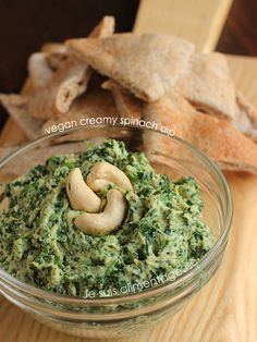 Vegan Creamy Spinach Dip...Recipe