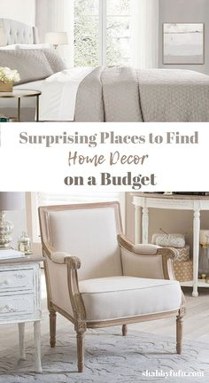 22 great places to find home decor on a budget, without ever leaving home! #homedecor #homeshopping #pillows #furniture #chandeliers #homeaccessories #sff225