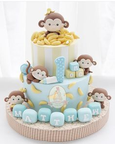 Cake with olives and feta - Clean Eating Snacks Fondant Cakes Kids, Cupcake Cakes, Baby Boy Cakes, Baby Shower Cakes, Baby First Birthday Cake, Safari Cakes, Animal Cakes, Love Cake, Cute Cakes