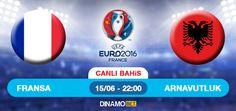 FRANSA - ARNAVUTLUK Ev sahibi Fransa, EURO 2016 Avrupa Futbol Şampiyonası A Grubu maçında, son 16 yolunda sürprizlerle dolu Arnavutluk ile karşılaşacak. Saat 22:00'da oynanacak bu maçı İskoç hakem Wlliam Collum yönetecek ve Vélodrome Stadın'da oynanacak. EN YÜKSEK ORANLAR DinamoBET'de! https://www.dinamobet4.com/tr#/