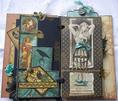 having a {me} day: steampunk paperbag album graphic 45