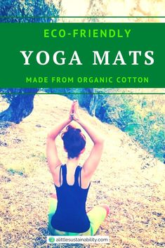 A list of the 5 best organic cotton yoga mats. Normal yoga mats are normally made from plastic, but organic cotton yoga mats do not carry any of those harmful chemicals and are more environmentally friendly. #ecofriendly #yoga #yogaroom