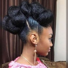 35 Natural Braided Hairstyles Without Weave - Part 41 : Cinnabun hawk natural hair Natural Hair Bun Styles, Natural Braided Hairstyles, Natural Hair Updo, African Hairstyles, Afro Hairstyles, Curly Hair Styles, Wedding Hairstyles, Protective Hairstyles, Curly Haircuts