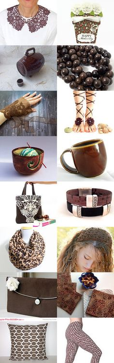 Lovely Brown Gifts by Mayura on Etsy--Pinned with TreasuryPin.com