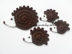 Crochet patches – Hedgehog – a unique product by garndesign on DaWanda