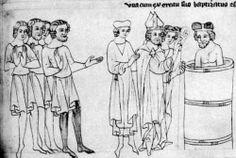 Pokřtění Bořivoje od arcibiskupa Metoděje. Velislavova bible (po roce 1340). Bible, Art, Biblia, Art Background, Kunst, Performing Arts, The Bible, Art Education Resources, Artworks