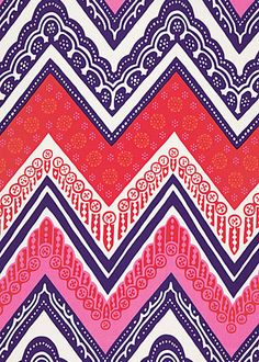 Trina Turk Fabric by the Yard Tangier Frame Print Cerise