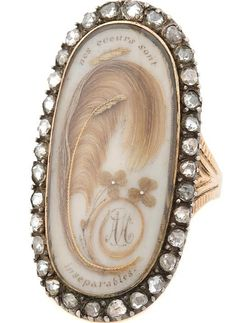 """French amatory ring: """"Our Hearts are Inseperable"""", c.1780"""