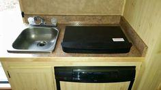 Sink, stove and fridge