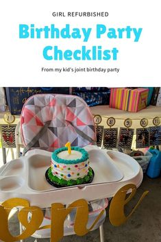 A checklist for any kid's birthday party, but in this case my kid's joint birthday party. Broken down into categories and easy to read with favor ideas and a to-do list. Joint Birthday Parties, 1st Birthday Party For Girls, Happy Birthday Signs, Happy Birthday Candles, Birthday Party Games, Birthday Party Favors, Birthday Party Decorations, Birthday Party Checklist, Printable