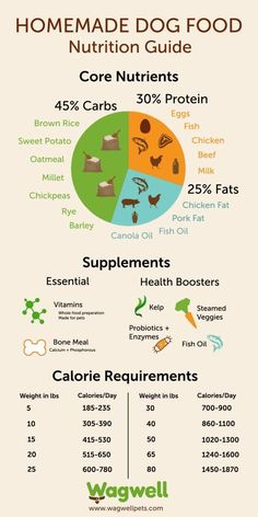 Homemade Dog Food: Recipes & Nutrition Guide - I've actually read that the carb % should be less and the protein % higher that that....
