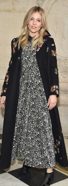 Who made Sienna Miller's floral print dress?