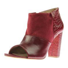 Trina Turk Womens Los Gatos Leather Open Toe Booties