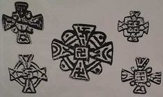 Ancient Nestorian crosses with swastikas from Asia.