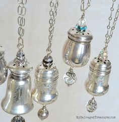 Salt and pepper shaker necklaces MySalvagedTreasures.com