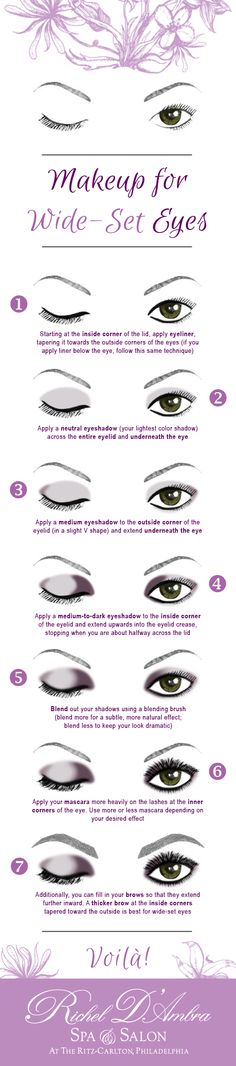 Makeup for Wide-Set Eyes | Richel D'Ambra Spa & Salon | see more: http://richeldambra.com/2015/07/27/makeup-for-wide-set-eyes/
