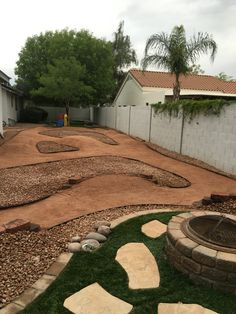 Backyard Pumptrack a manicured back yard pump-track even your wife will like. | back