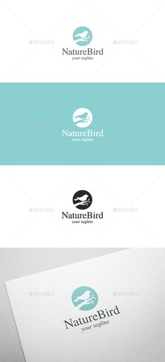 Nature Bird Logo Template by brandphant Nature Bird Logo Template- 100 Resizable vector logo - 100 Editable text - Easily customizable colors - AI & EPS files - Link to