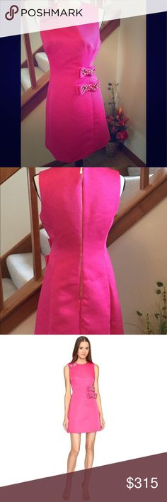 Kate Spade Pink Dress- 💝💞💋NWT💞❤️💋 💝💖🎀💋Kate Spade Size 4  Embellished Bow A line Dress❤️Make Magic Cabaret Pink🎀💞💖 💞lined 💞a line silhouette  💞jewel neckline 💞bows with glistening details  💞exposed center back zipper 💞Length 33 in 💞dry clean  Are you ready for Valentine's Day?💖💞🎀💋 It's absolutely gorgeous 💋💖🎀💝  Treat yourself or someone special today❤️❤️ kate spade Dresses