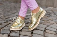 Golden shoes trend this season….