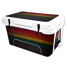 MightySkins Protective Vinyl Skin Decal Wrap for RTIC 45 qt Cooler cover sticker Wood Style * Check out this great product.