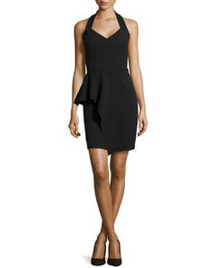 T9NWX Halston Heritage Sleeveless Sweetheart Peplum Cocktail Dress