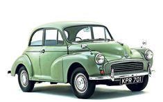 My first car was a Morris Minor which my Dad helped to renovate. At my request he painted the wings bright red and the body bright yellow so that it looked like Noddy's car.