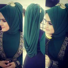 Bridal Hijab, Hijab Bride, Girl Hijab, Hijab Outfit, Hijab Elegante, Hijab Chic, Wedding Hijab Styles, Muslim Wedding Dresses, Niqab Fashion