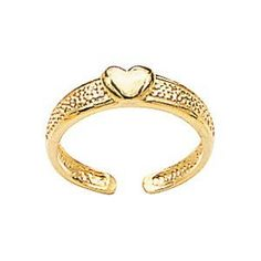 14K Yellow Gold Polished Heart Toe Ring Jewels Obsession. $137.95. Save 41% Off!