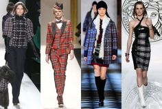 Crazy for Plaid : Lucky Magazine- Plaid on the Fall 2013 runways at Mulberry, Moschino, Tommy Hilfiger and Versace