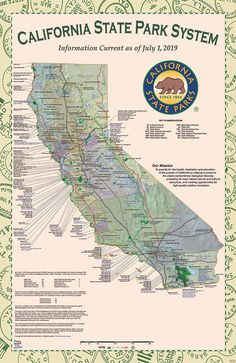California State Parks, State of California System Map, Map Icons, California Map, Interesting History, Rv Life, Cartography, Adventure Awaits, Getting Out, State Parks