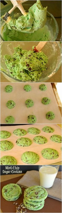 Chocolate Chip Cookies Mint Chip Sugar Cookies Recipe Teske Goldsworthy Teske Goldsworthy Teske Goldsworthy Walden look!Mint Chip Sugar Cookies Recipe Teske Goldsworthy Teske Goldsworthy Teske Goldsworthy Walden look! Baking Recipes, Cookie Recipes, Easy Recipes, Mint Recipes, Mint Chocolate Chip Cookies, Mint Cookies, Chocolate Desserts, Chocolate Cake, Cupcakes