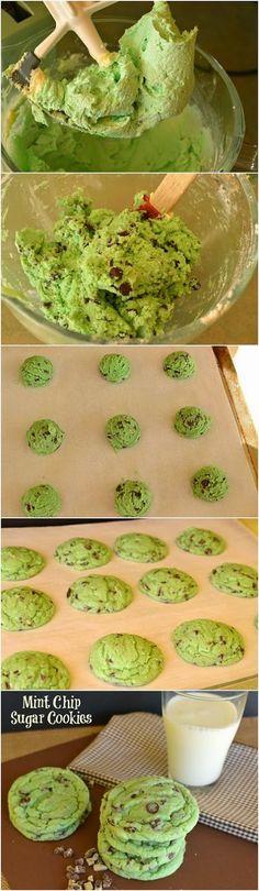 123 Picsi : Mint Chip Sugar Cookies