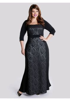 Talula Gown in Platinum | Plus Size Special Occasion Dresses | OneStopPlus. $168.99