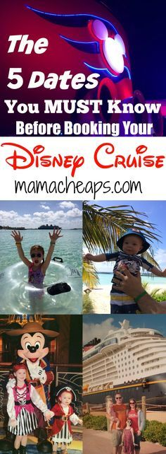Before you book that Disney Cruise, there are 5 dates that you absolutely need to know. Make sure you figure out what these calendar dates are for the cruise you are planning to book and write them in your planner or type reminders in your phone. Disney Dream Cruise, Disney Cruise Ships, Best Cruise, Cruise Tips, Cruise Travel, Cruise Vacation, Disney Vacations, Disney Travel, Family Vacations
