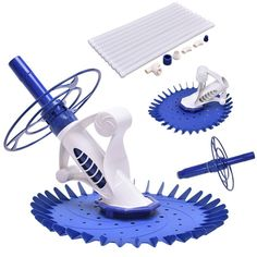 Goplus Automatic Swimming Pool Cleaner Set Clean Vacuum Inground Above Ground W/ 10 Hoses For Sale