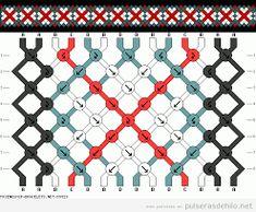 Resultado de imagem para patrones de pulseras macrame