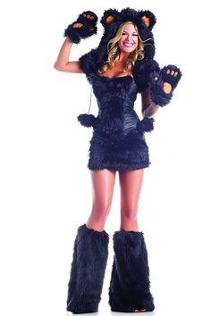 ff74ff94bf3 8 PC Black Bear Sexy Animal Costume