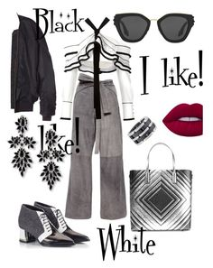 """""""BW"""" by babett-beattie ❤ liked on Polyvore featuring Kaelen, Proenza Schouler, Vetements, Alberto Guardiani, Anya Hindmarch, Chanel, Prada, Fallon and Lime Crime"""