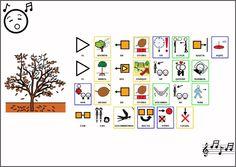 """MATERIALES - Canción """"El viento del Otoño"""".    Adaptación con pictogramas de la canción """"El viento de otoño"""".    http://arasaac.org/materiales.php?id_material=454"""