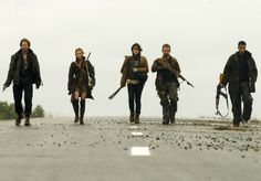 """""""I feel a little silly, carrying this archaic shit."""" """"I think we look badass. Keep walkin'."""""""