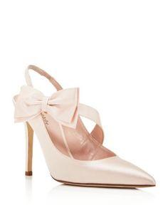 kate spade new york Livia High Heel Slingback Bow Pumps | Bloomingdale's