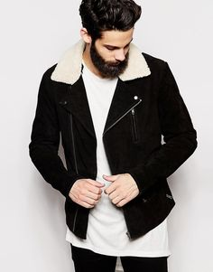 ASOS+Leather+Jacket+With+Faux+Shearling