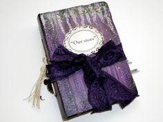 Wisteria wedding guest book, photo album, baby album. 22x15 cm.