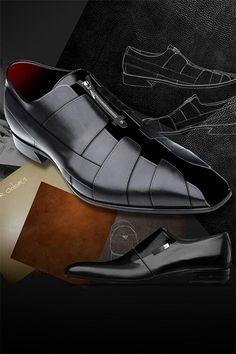 huge selection of f5a9f 58bfd Black on black Gli Uomini Si Vestono, Scarpe Eleganti, Scarpe Di Moda, Moda