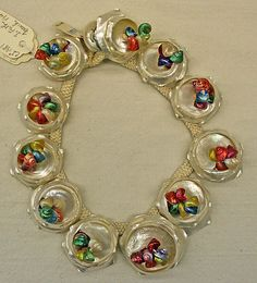 French Necklace *  shell, silk   1949 Louis ROUSSELET pour Jacques Fath